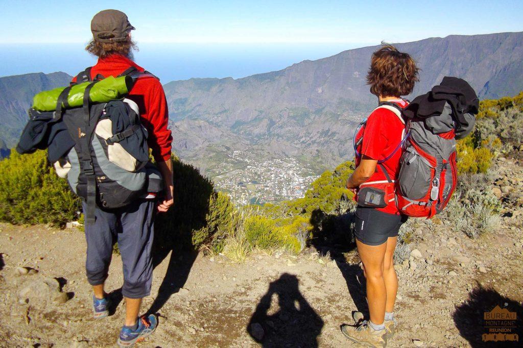 randonnée réunion trek agence GRR2 diagonale traversée cilaos kerveguen randonneur