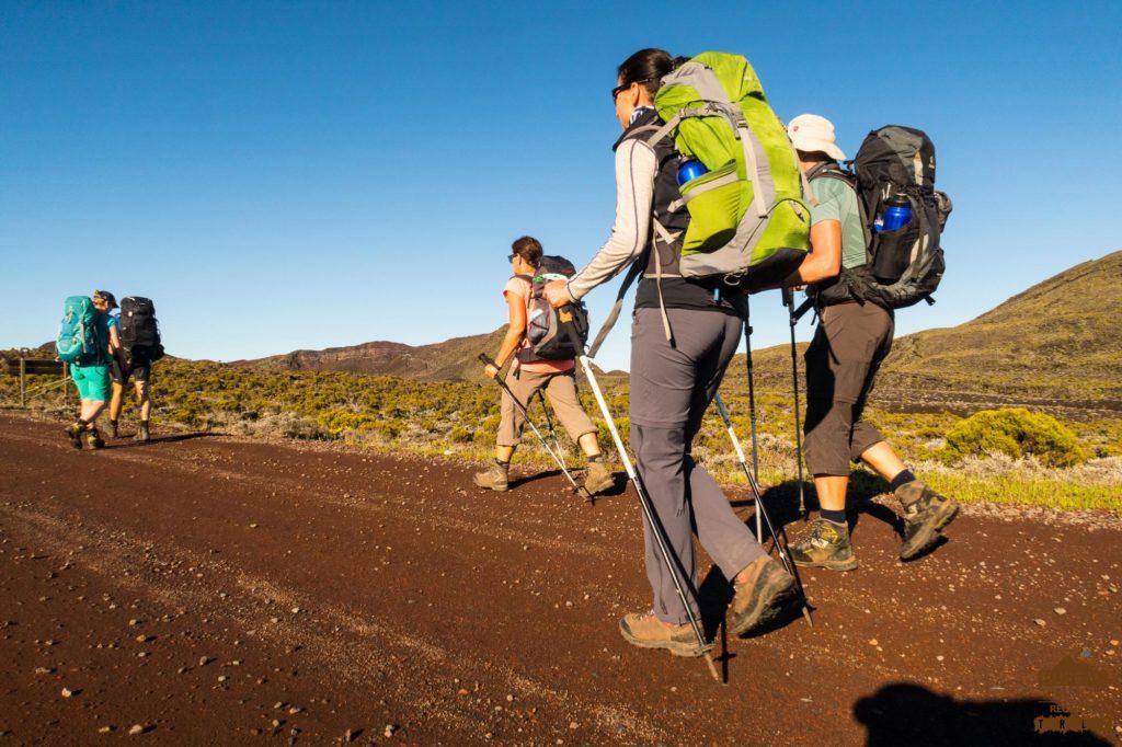Autour du Piton Textor fournaise randonneur trek réunion guide