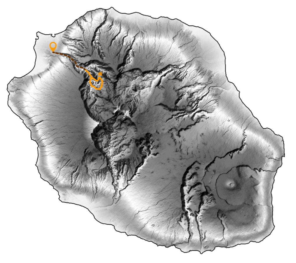carte trek tour des îlets du bas mafate